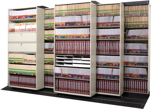Lateral mobile shelving systems Smart Storage Space